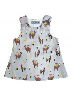 Lama Pattern Nancy Dress