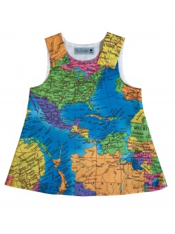 World map Pattern Nancy Dress