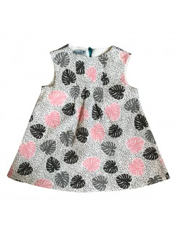 Robe Queenie Kid motif palmier