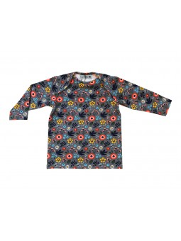 T-shirt Baby motif fleurs