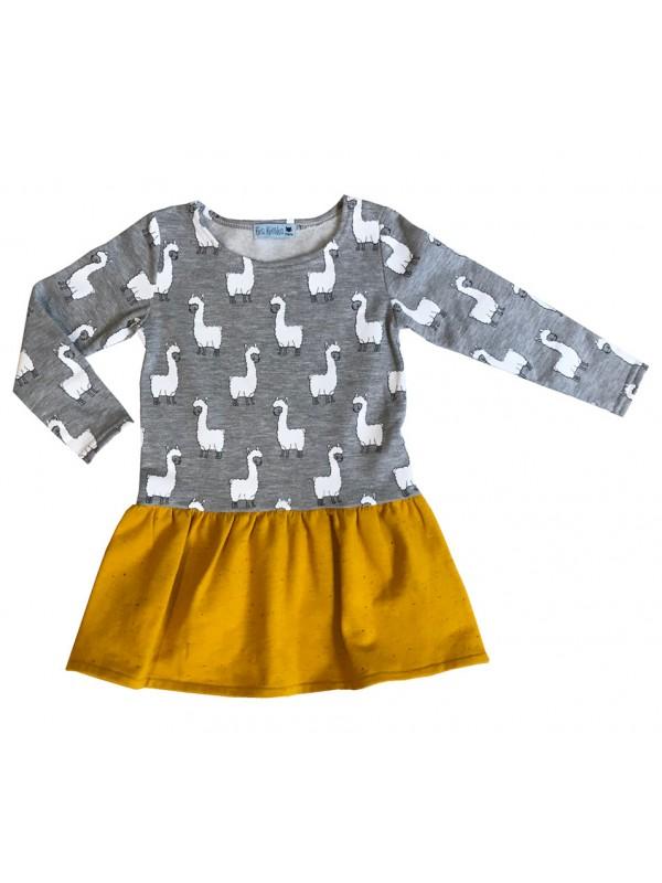 Robe Sweat Shirt Lamas Fille Label Fabrique A Paris Eva Koshka