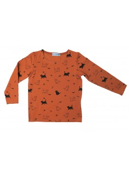 Cat Pattern Kid T-shirt