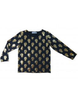 Golden lion pattern T-shirt