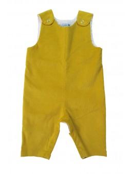 Salopette velours jaune