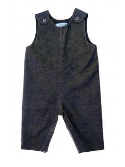 Navy blue corduroy overalls