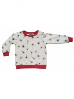 SWEAT-SHIRT ETOILES ROUGE