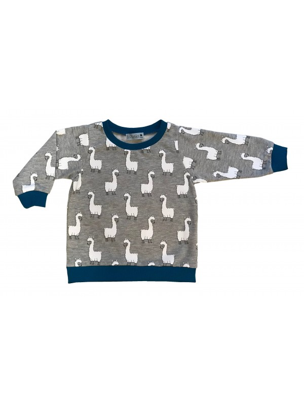 SWEAT-SHIRT LAMAS BLEU
