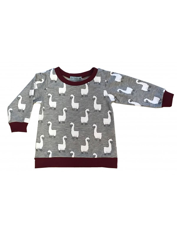 SWEAT-SHIRT LAMAS BORDEAUX