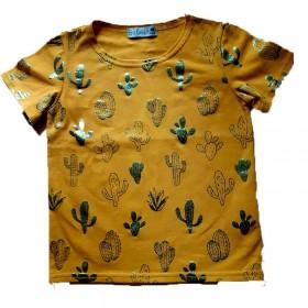 T-Shirt Jaune kid motif...