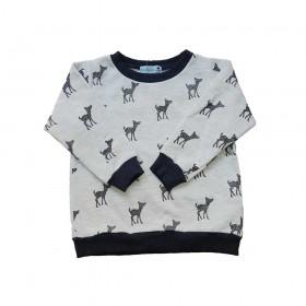 Sweat-shirt Alice motif Faon