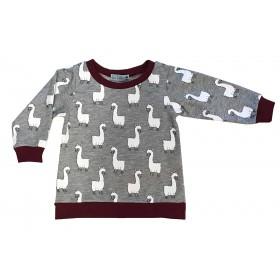 Sweat-shirt Alice motif Lama