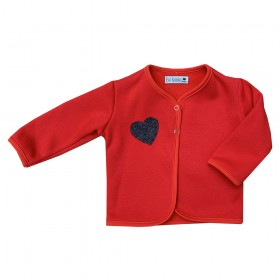 Veste Sweat Rouge