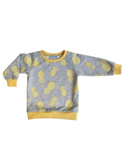 Pineapple pattern sweat-shirt